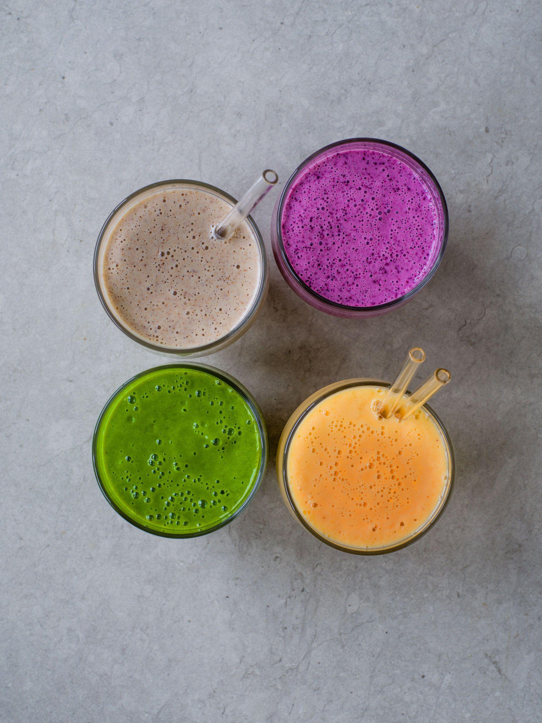 4 rețete ușoare de smoothie pentru smoothie-uri sănătoase