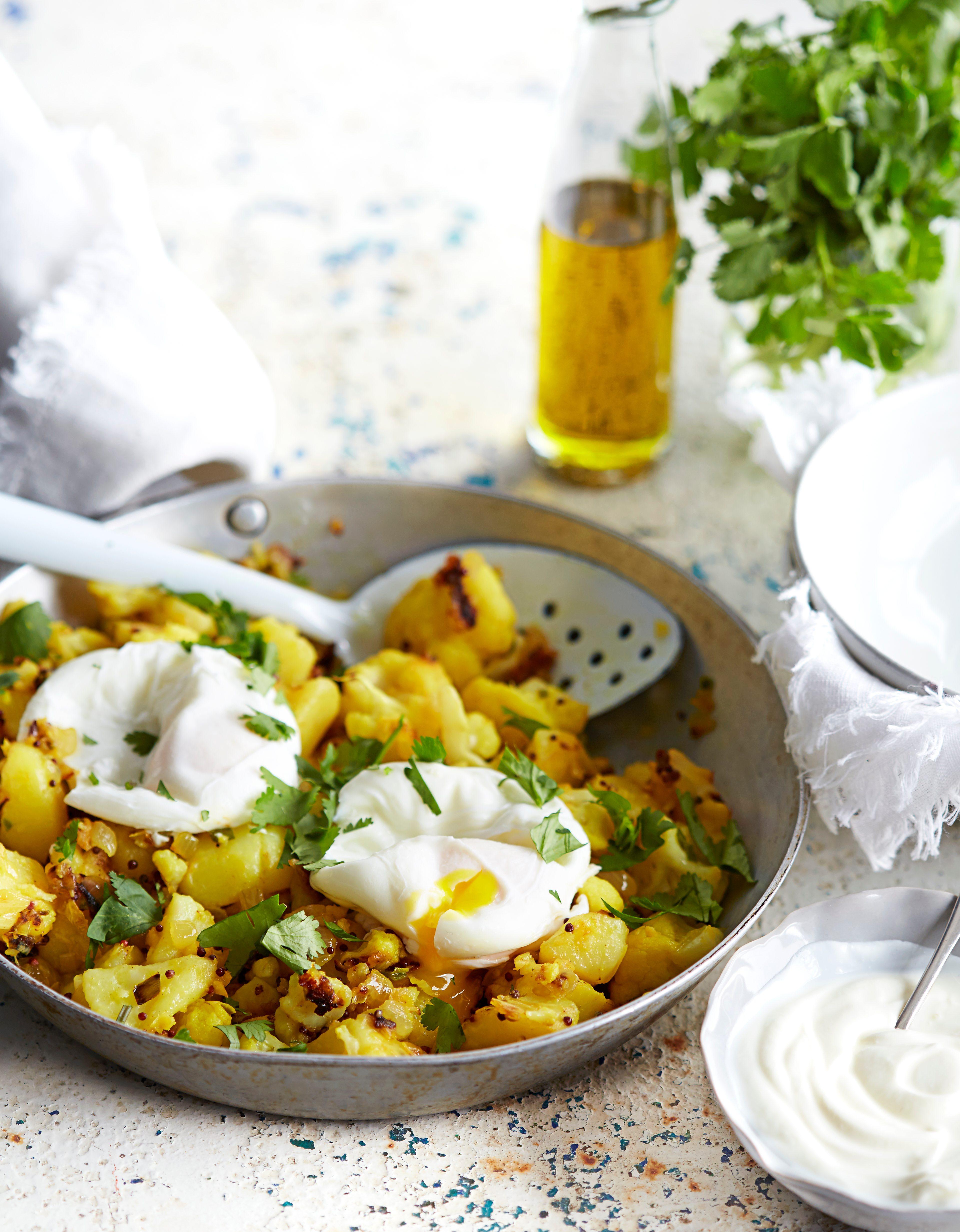 Rețetă Aloo Gobi cu ouă brăzdate