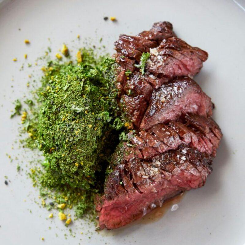 Rețetă de friptură Bavette cu cremă Kale