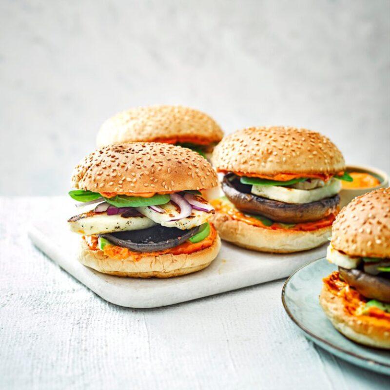 Rețetă Burger de ciuperci și Halloumi