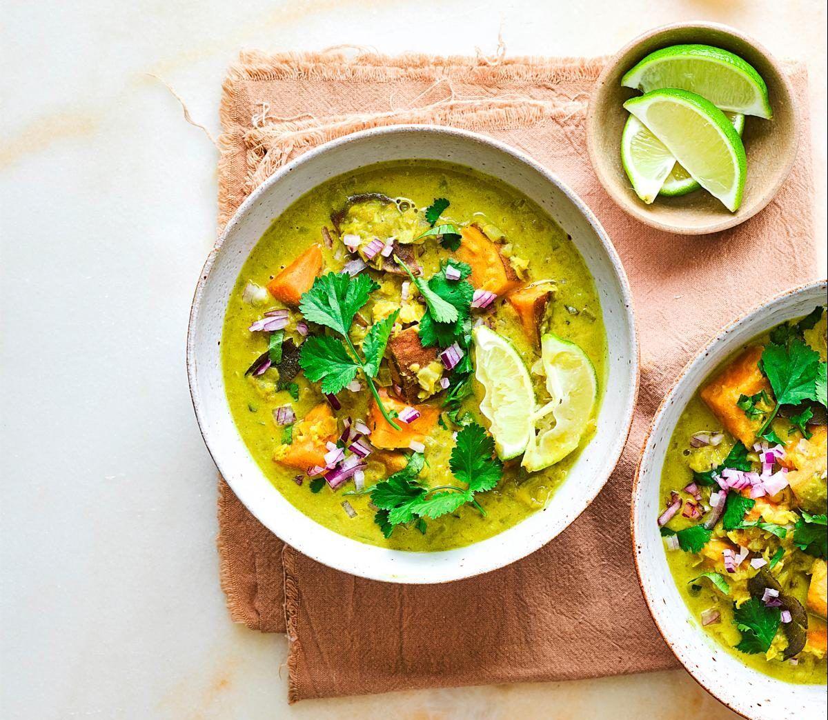 Cartof dulce și curry de linte