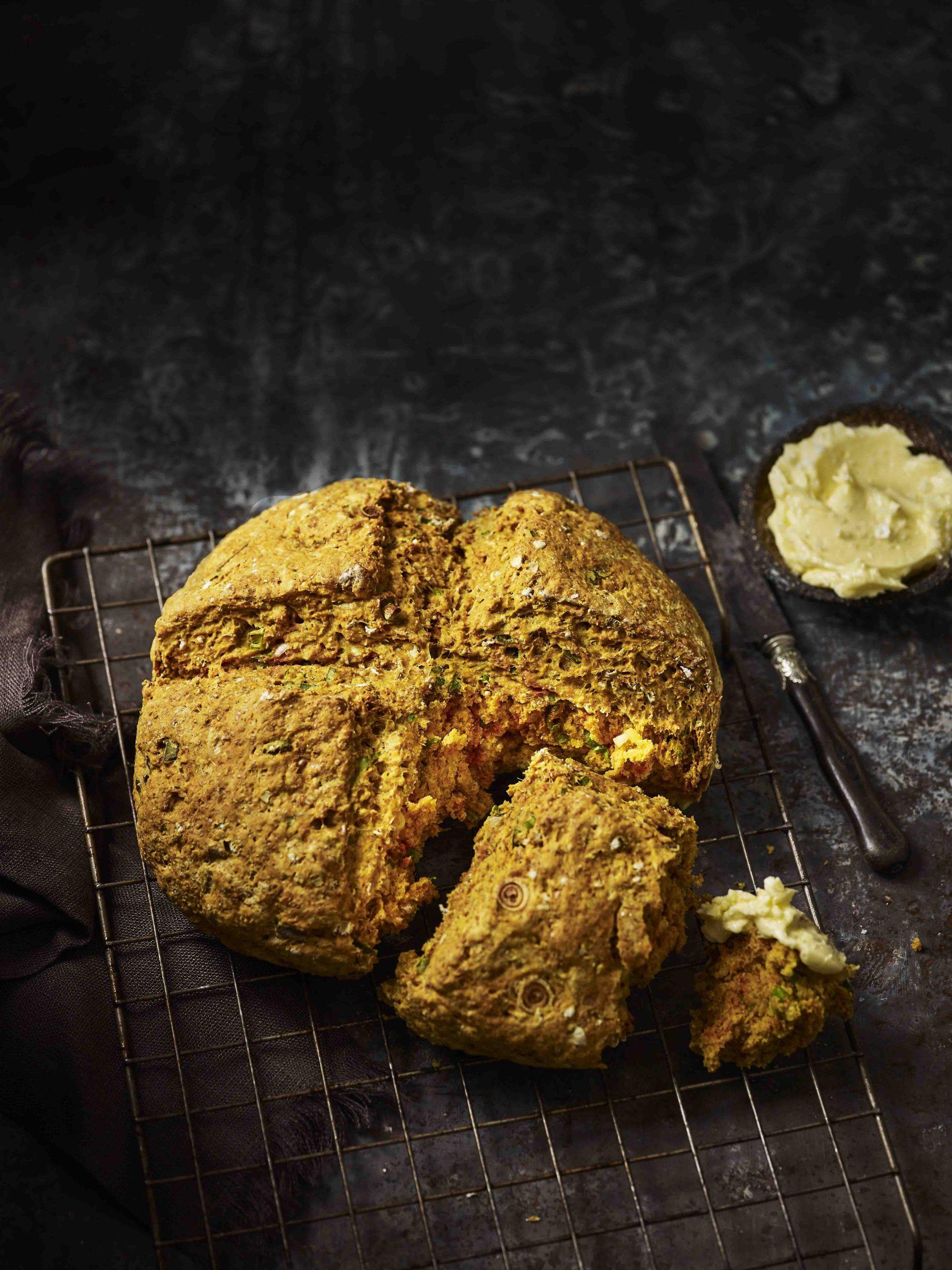 Rețetă de pâine cu sodă cu unt de kefir de casă