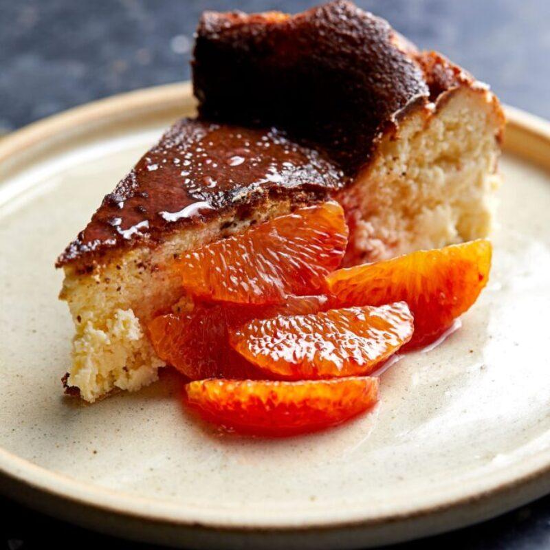 Rețetă Cheesecake Ricotta cu felii de portocale de sânge