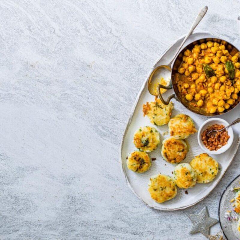 Tartă Ragda cu chutney de usturoi cu ardei iute
