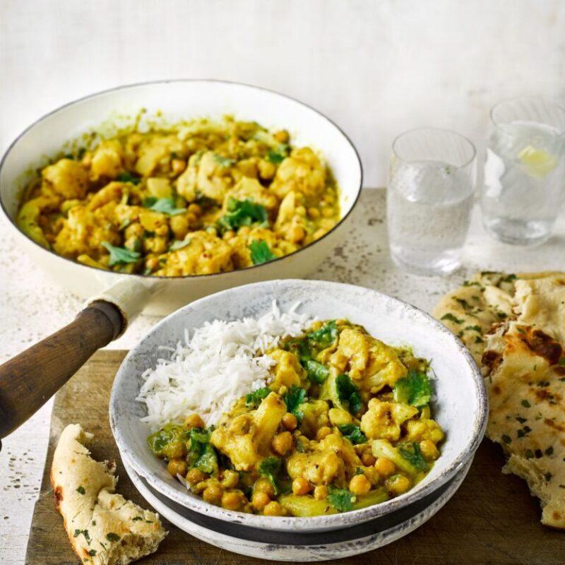 Rețetă Curry de naut și conopidă