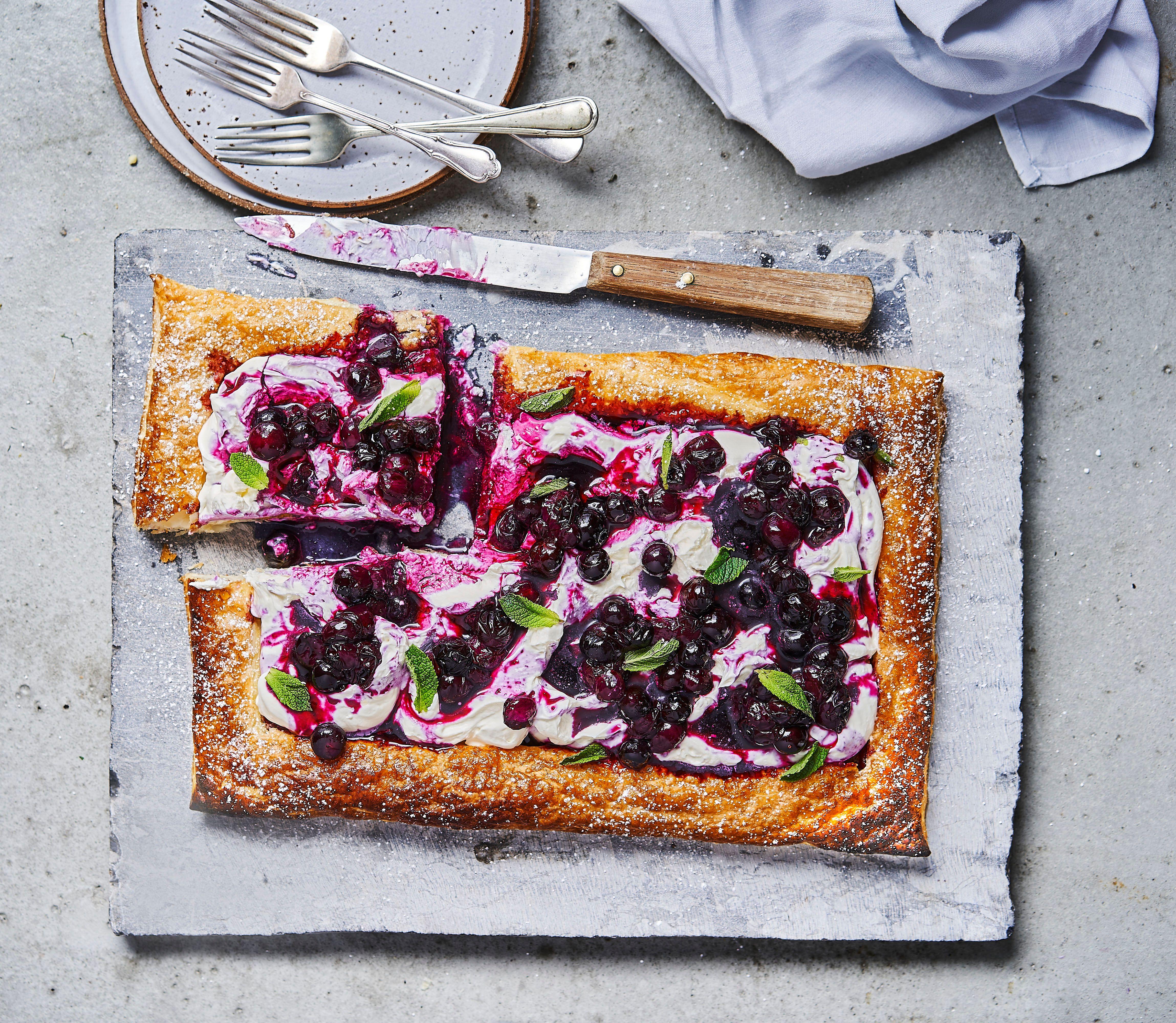 Rețetă pentru tartă cu afine Mascarpone