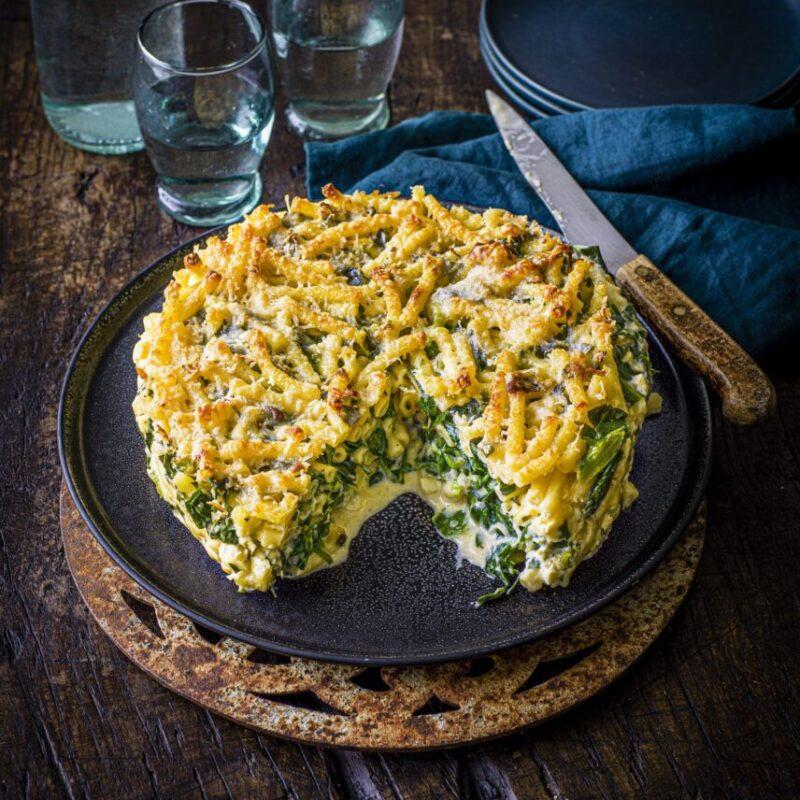 Rețetă de plăcintă cu brânză macaroane