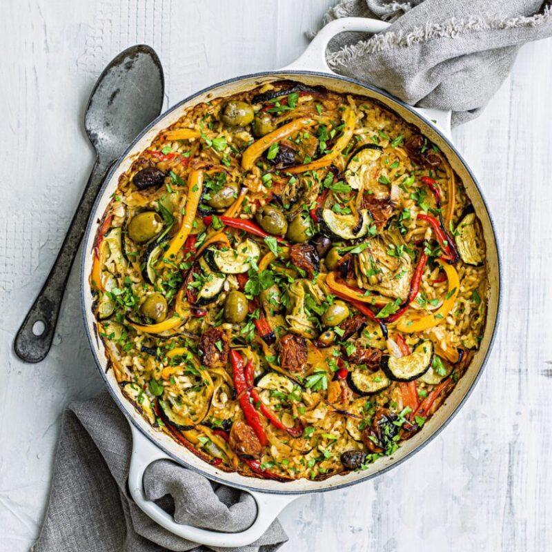 Rețetă vegetariană de Paella