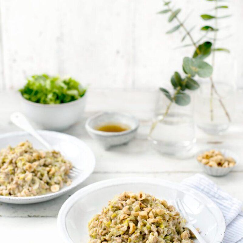 Rețetă de risotto Farro cu praz și alune