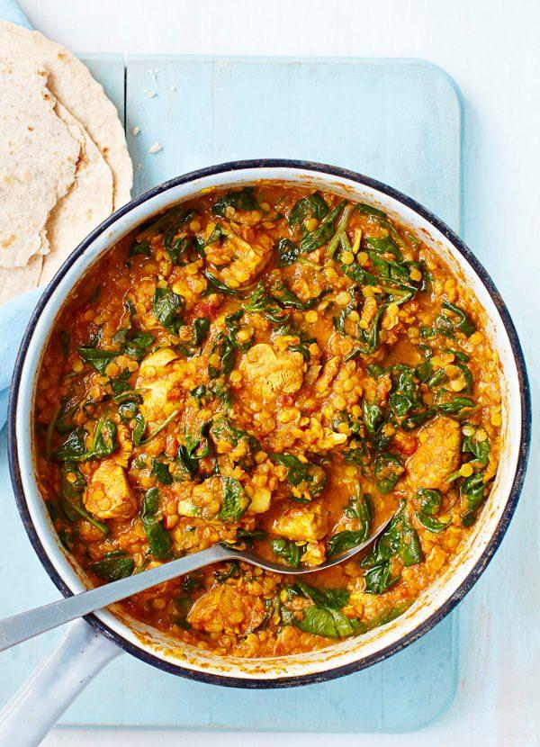 Rețetă sănătoasă Saag de pui Curry