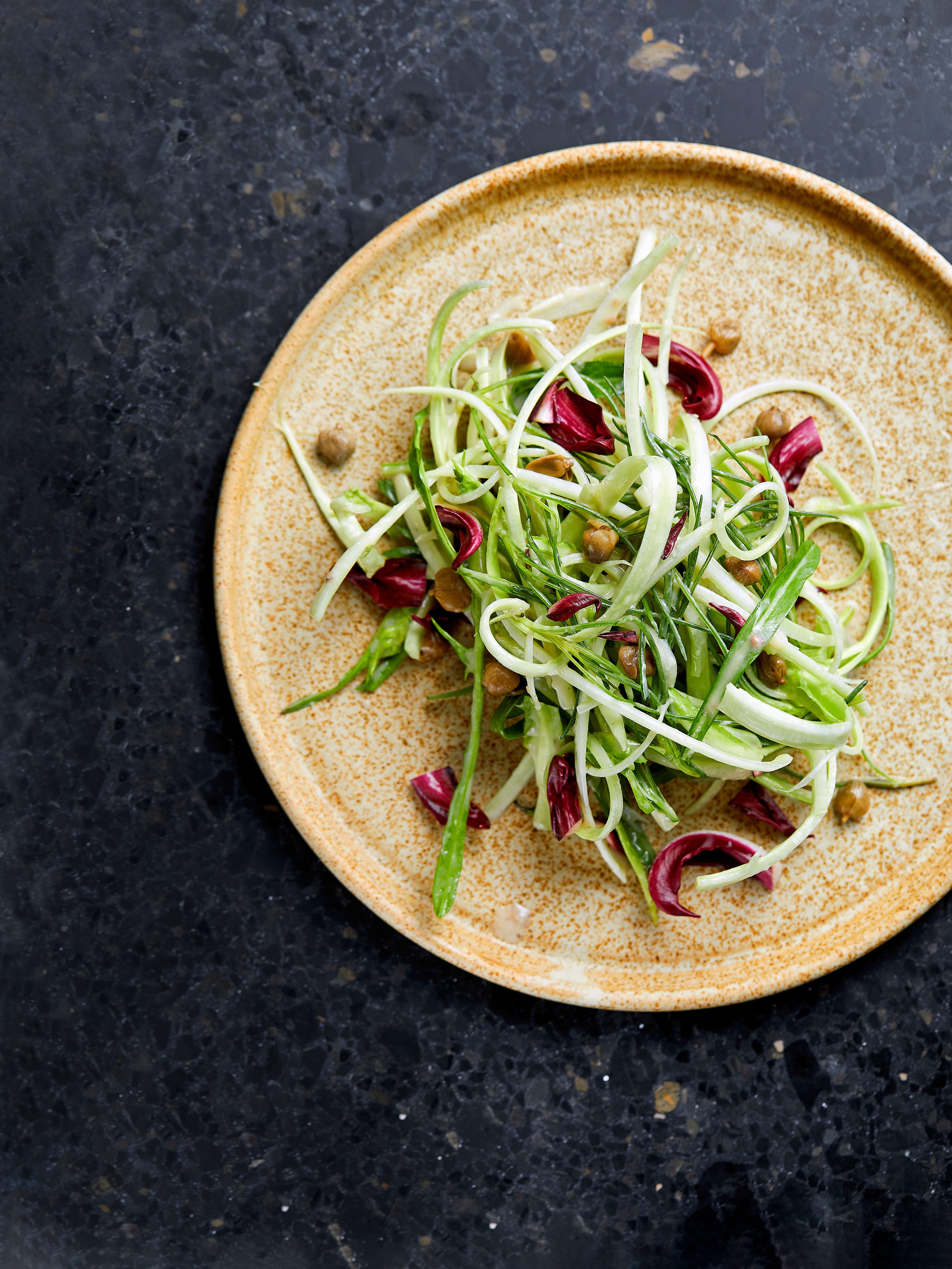 O salată verde aranjată