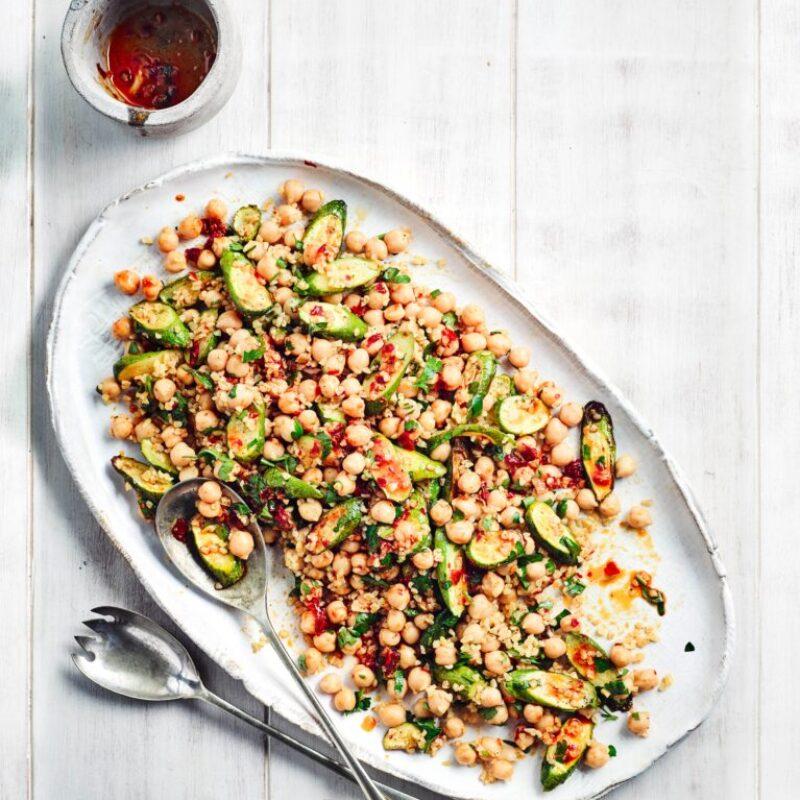 Rețetă de salată de dovlecei prăjiți cu năut