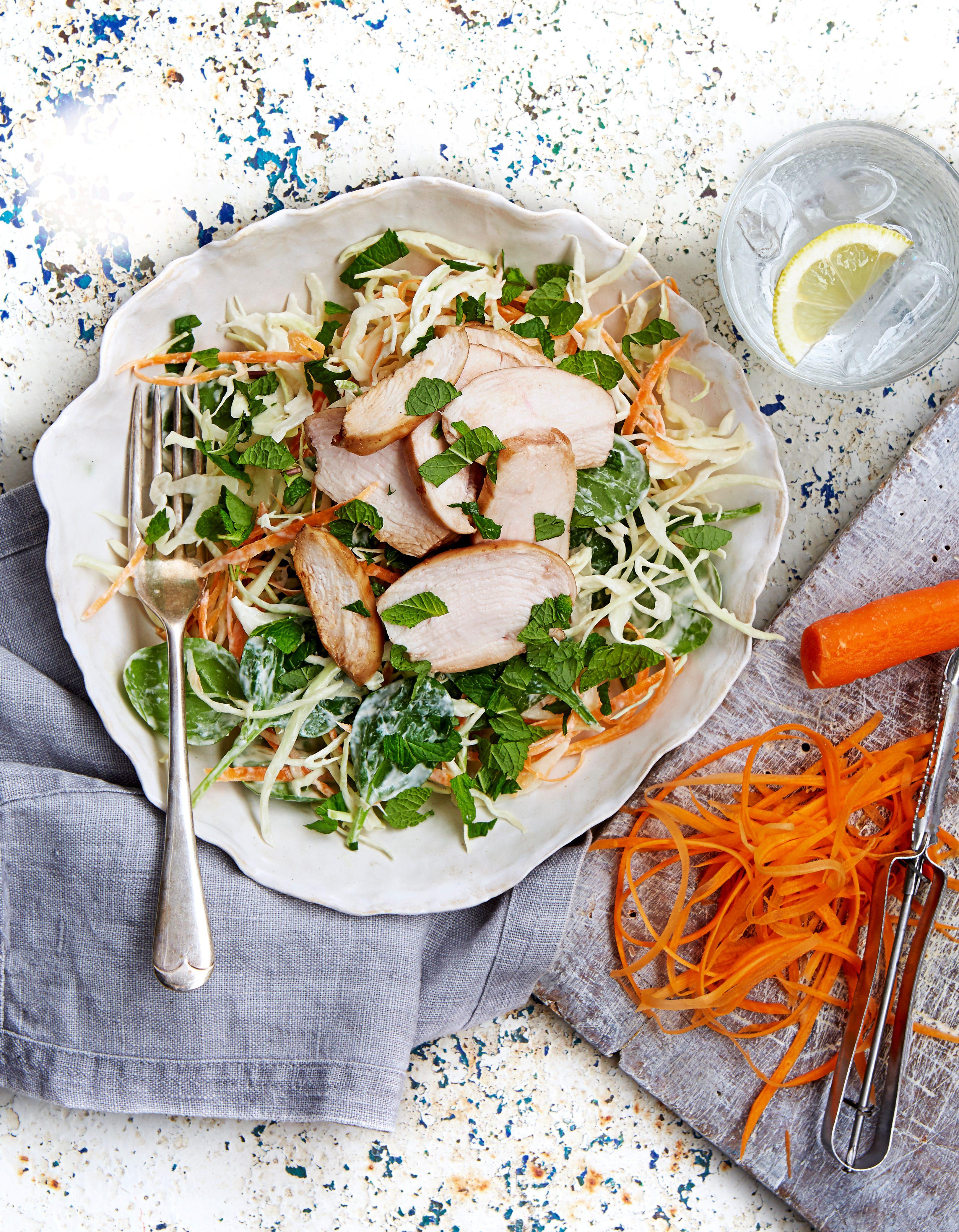 salată de mentă de pui de rodie
