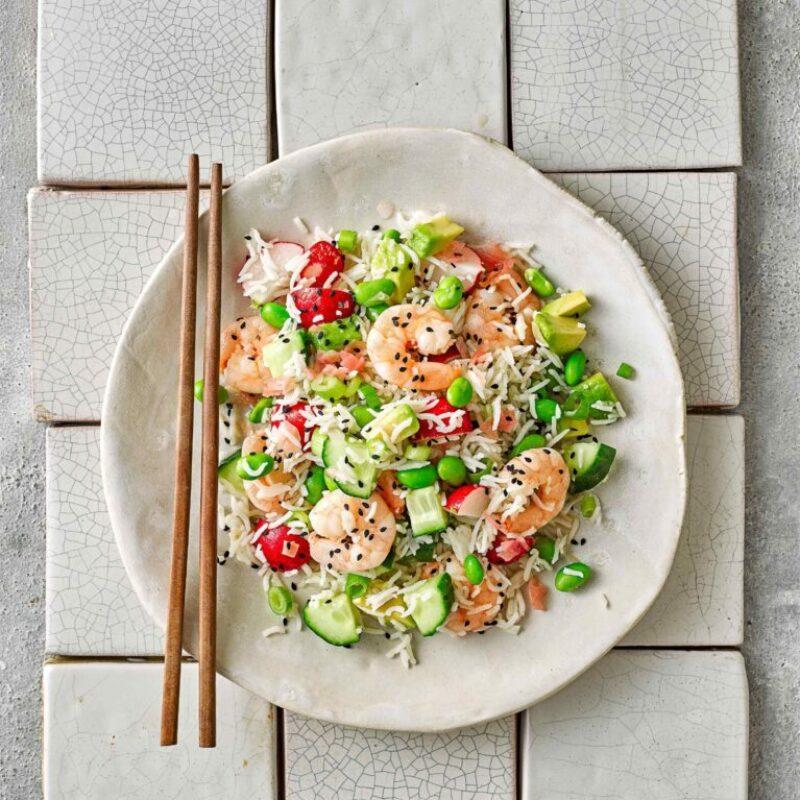 Salată rapidă de orez japonez