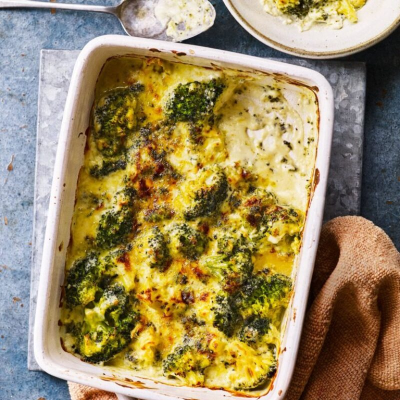 Rețetă de coacere cu brânză albastră de broccoli