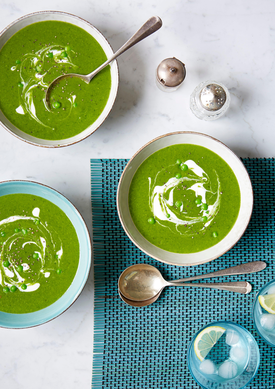 Rețetă de supă verde cu mazăre și spanac
