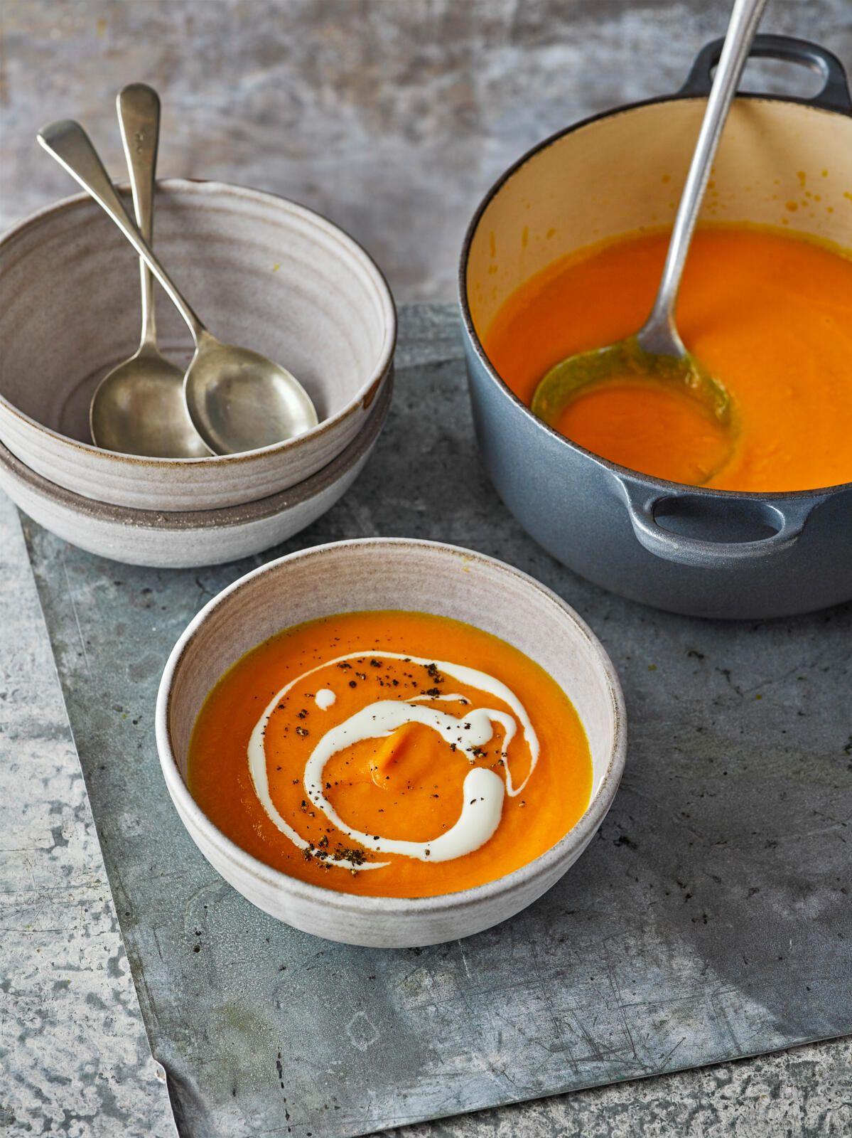 Supă de portocale și morcovi