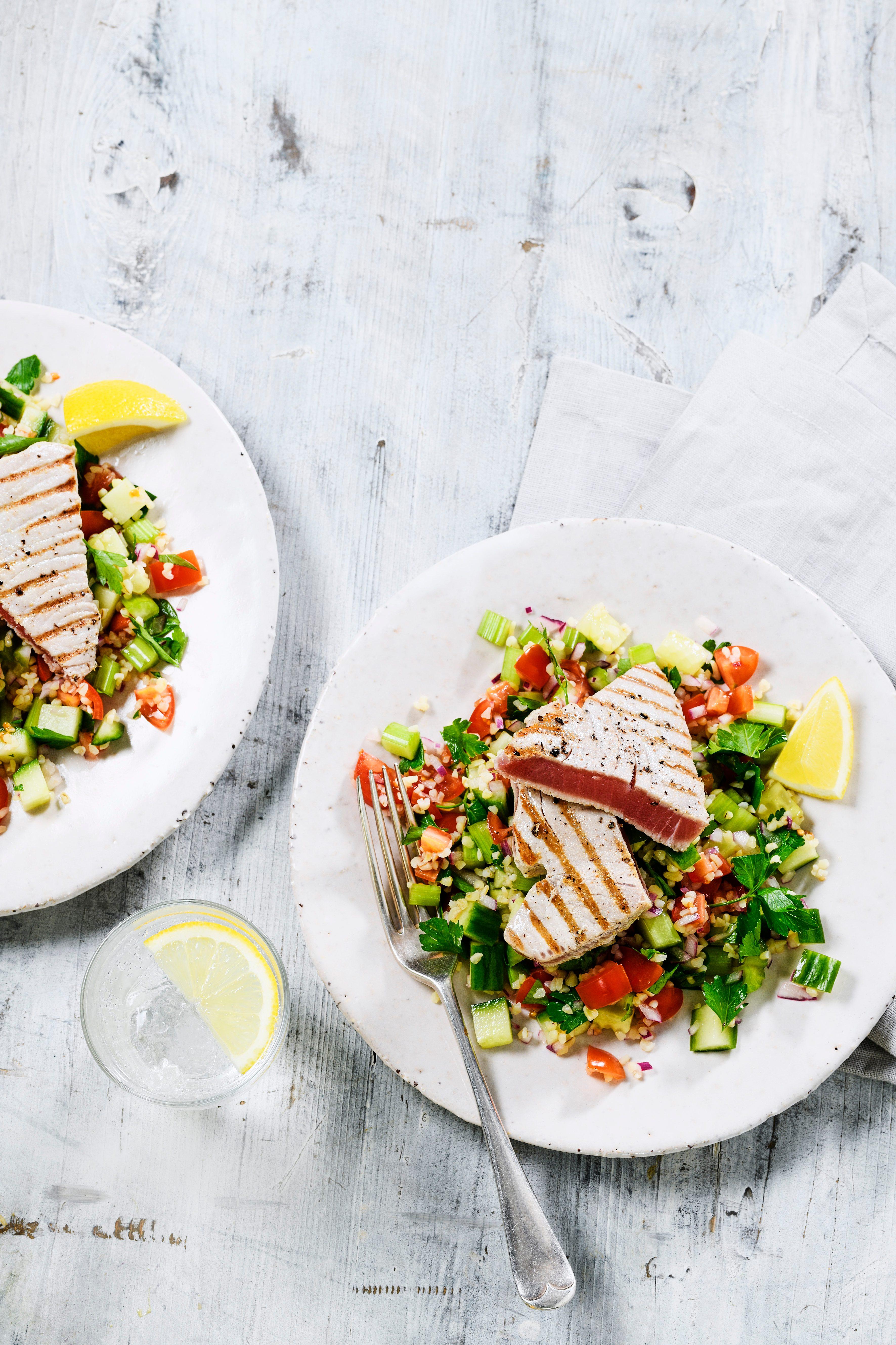 Rețetă de friptură de ton cu grâu Bulgur