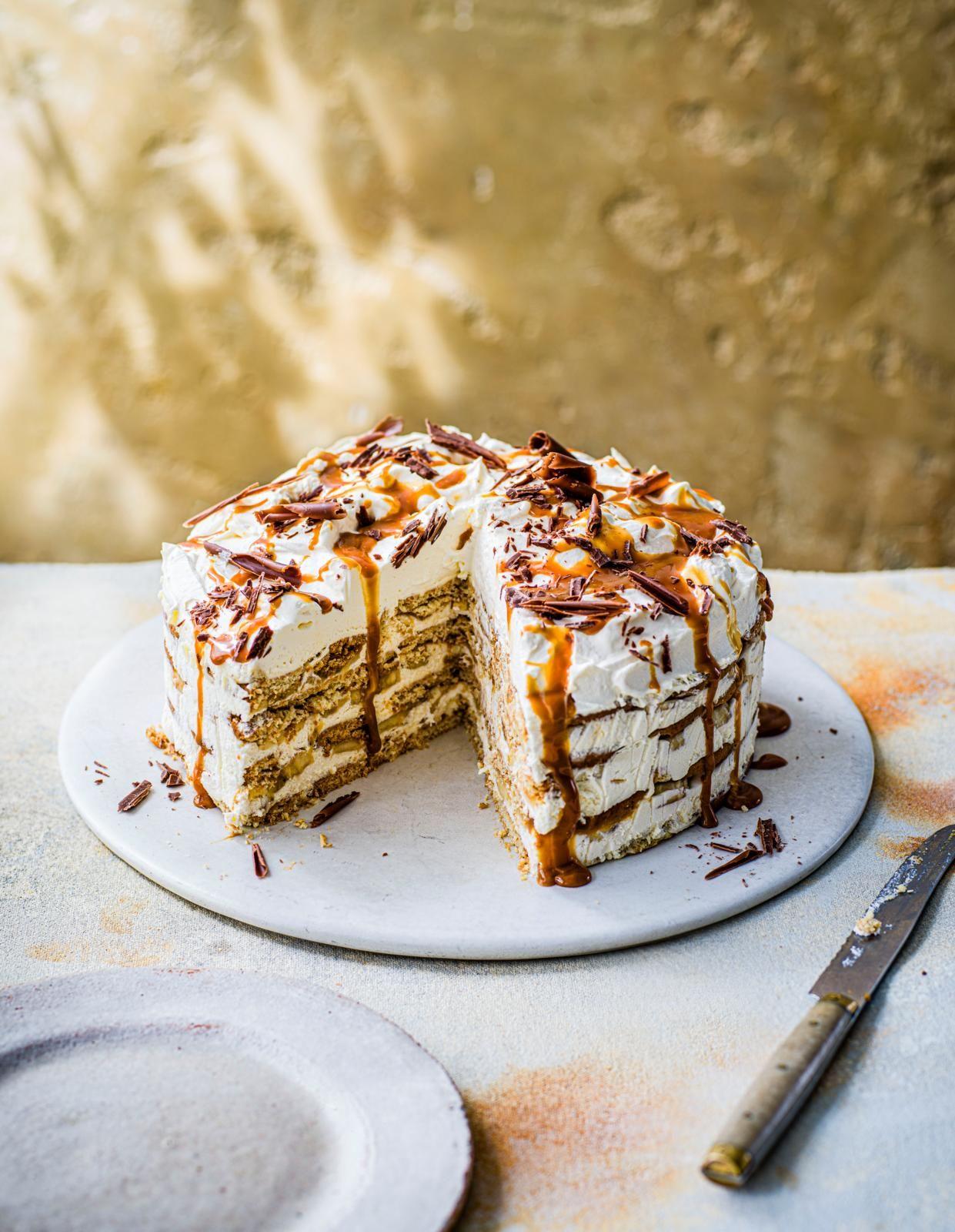Tort cu frigider Banoffee